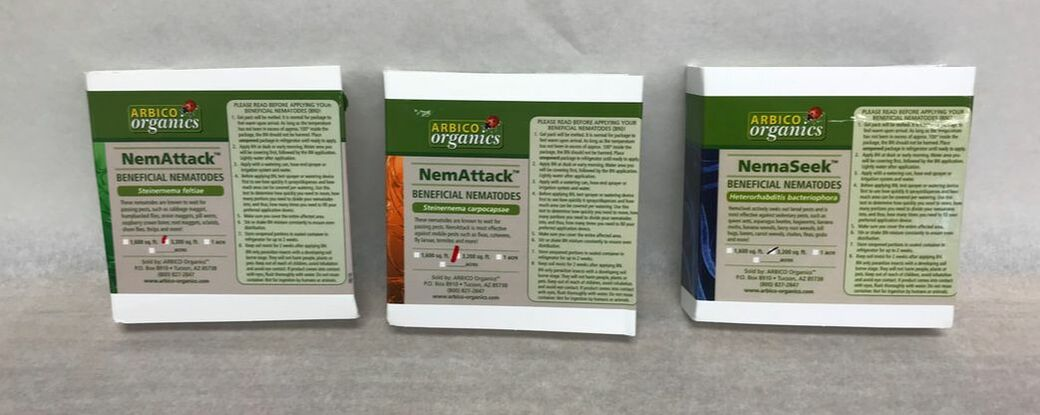 Triple threat combo package of beneficial nematodes from Arbico Organics